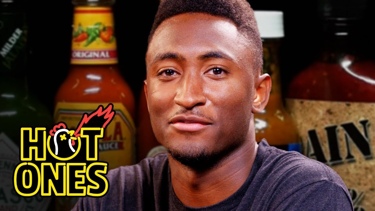 75650910089b Marques Brownlee Ranks Hot Sauce Labels While Eating Spicy Wings ...