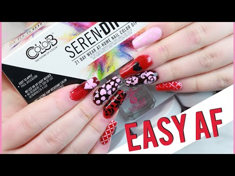 Testing dip nail kit from Walmart: Serendipity