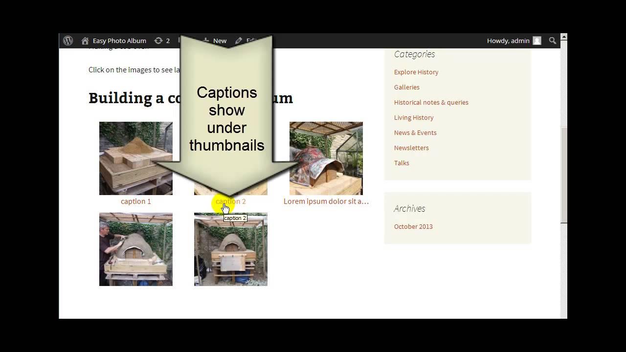 Wordpress Photo Gallery - Easy Photo Album - 03 Captions
