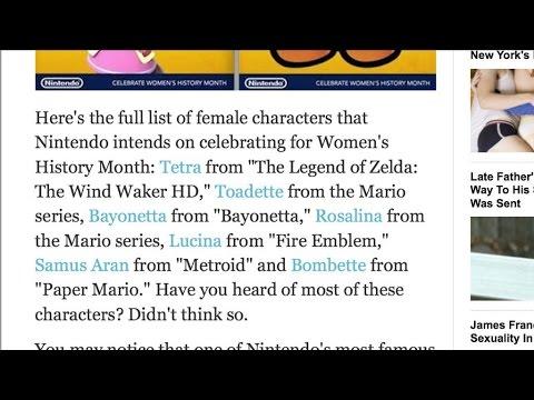 Nintendo Strong Female Characters #GamerGate @Nintendo