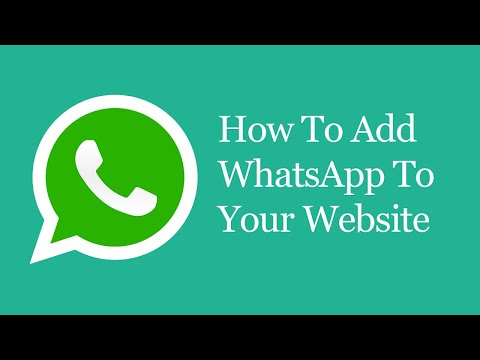 How To Add Whatsapp To Your Website