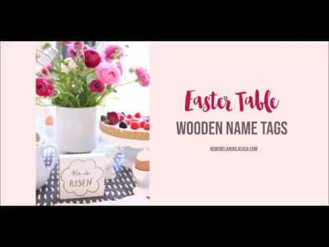easter table with name tags youtube
