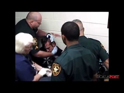 Corrections Officer Slams Inmates Head Against Concrete Wall While Handcuffed [Trimmed]