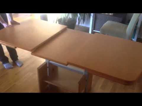 tisch h henverstellbar ausziehbar lieferung m glich g nstig youtube. Black Bedroom Furniture Sets. Home Design Ideas
