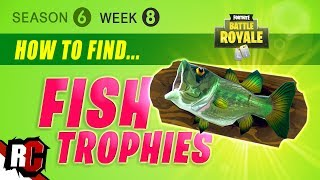 Fortnite WEEK 8 Fish Trophy Locations (Season 6 Challenge / Dance with a Fish Trophy)