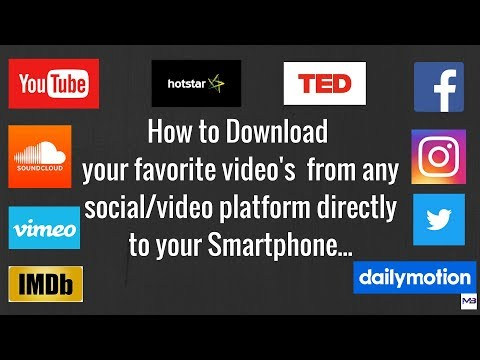 How to Download your favorite video's from any social/video platform