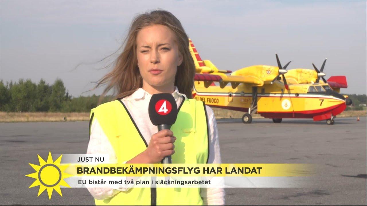 """Eu bistår med två flygplan i släckningsarbetet: """"De har hög kapacitet och komme - Nyhetsmorgon (TV4)"""