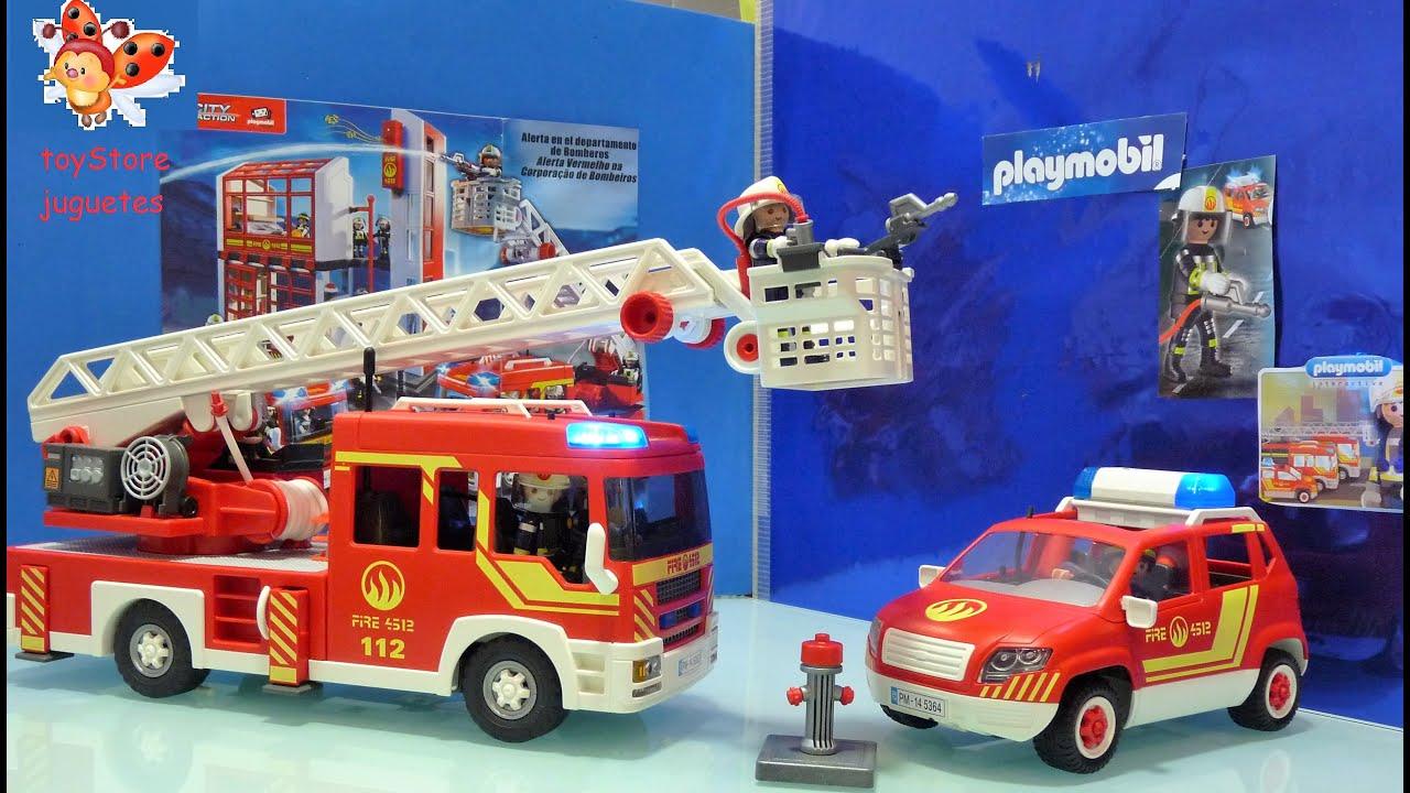 Playmobil coche de rescate y camion de bomberos youtube - Playmobil camion ...