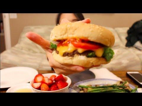 Homemade Burgers | Mukbang 먹방 | Eating Show | McD's, Strawberries & Cream