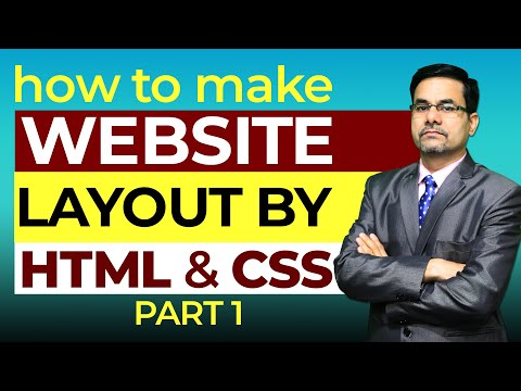 How To Make Website Layout By HTML And CSS PART-1 | Website Creation | Web Designing Tutorial Video
