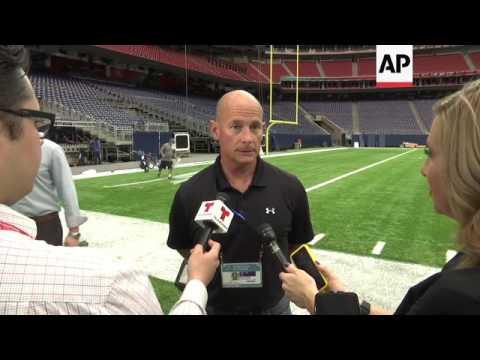 Houston Crews Prep Field for Super Bowl