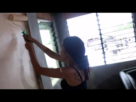 FINALLY! PAINTING OUR HOUSE! OUR HOUSE IN PHILIPPINES