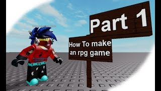 Roblox Studio: How to make an RPG game part 1