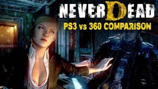 NeverDead Xbox vs PS3 gameplay comparison video
