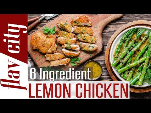 Keto Lemon Chicken With Asparagus -  Easy 6 Ingredient  Low Carb Recipe
