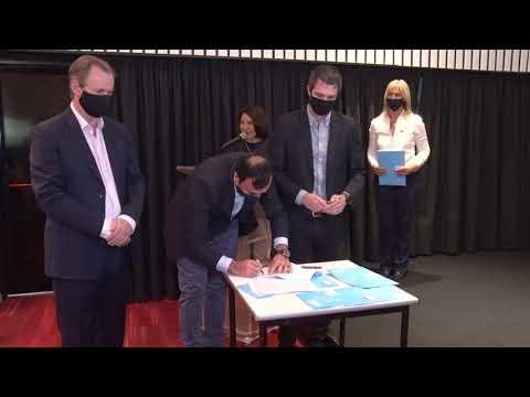 Bordet firmó convenio para realizar obras en la Región de Salto Grande