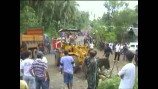 TUBAY AGUSAN DEL NORTE ANTI MINING ILLEGAL DISPERSAL THE LAWYER WAS MURDERED JULY 17, 2011 PT 1