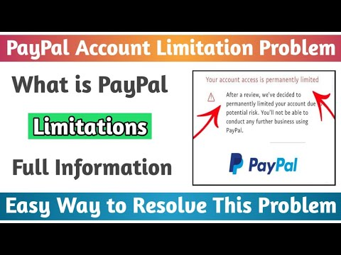 How to Resolve PayPal Account Limitations Problem | What is PayPal Account Limitations