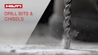 SLOW MOTION footage of Hilti hammer drill bits for concrete & masonry