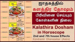 ஜாதகத்தில் களத்திர தோஷம் | கோள்களின் நிலை  |  Kalathra Dosham  | Astrology for Marriage Problems