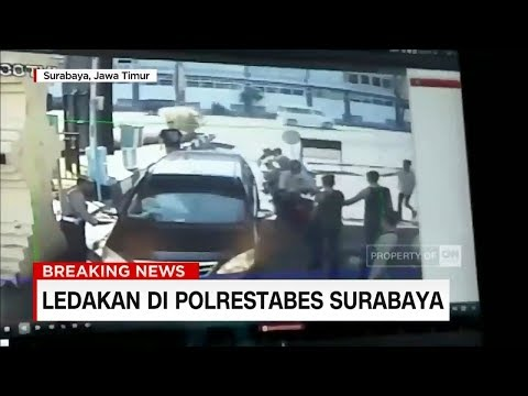 Ini Dia Sesaat Sebelum Ledakan di Depan Polrestabes Surabaya