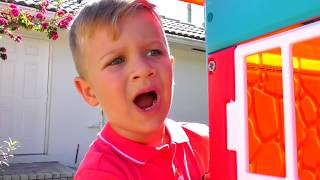 Roma and Diana Pretend Play with Playhouse for kids, Funny video Compilation