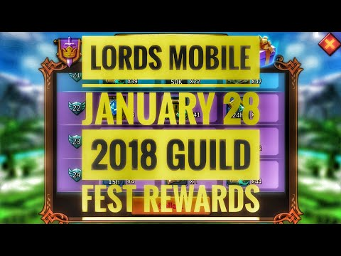 Lords Mobile - Guild Fest Rewards January 28 2018