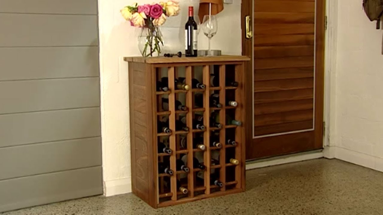 How to Build a Wine Rack  YouTube