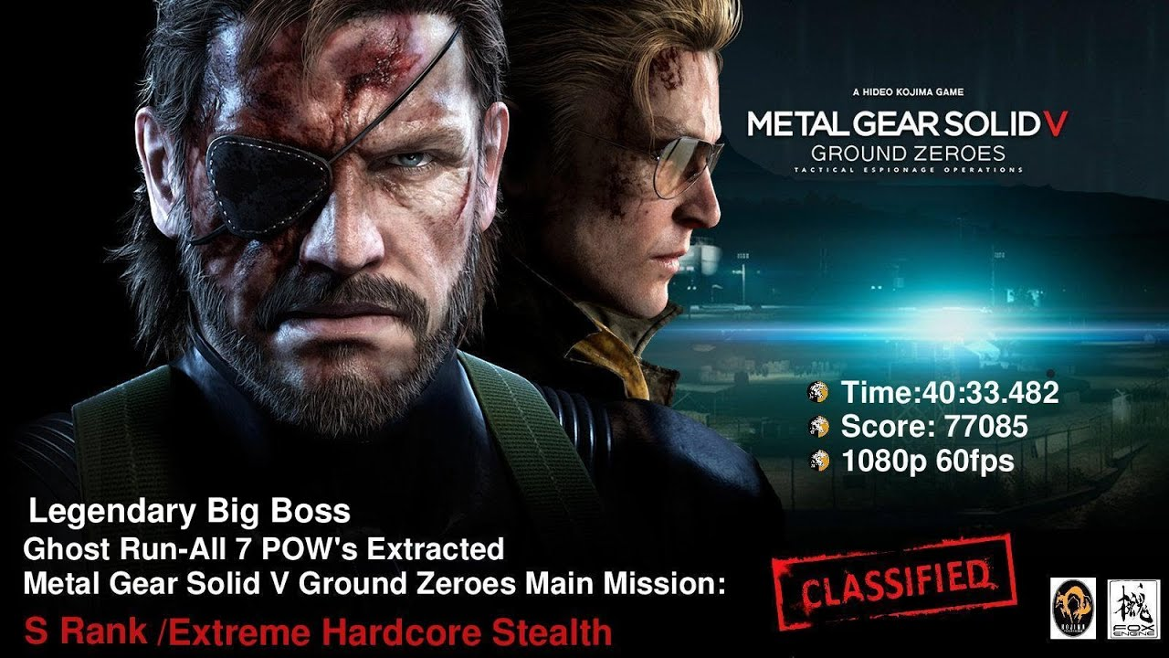 Mgsv Ground Zeroes Legendary Big Boss Ghost Run All 7 Pow S Extracted By Foot Only