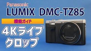 Panasonic LUMIX DMC-TZ85(TZ80/TZ81/ZS60) 機能ガイド「4Kライブクロップ」 4K LiveCrop