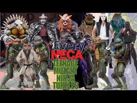 UPDATED: Every NECA TMNT Movie Figure Teenage Mutant Ninja Turtles Comparison List