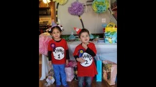 KIds' Birthday Party Planning(Dr. Seuss theme): Day of and Day before