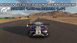 Gran Turismo Sport - Nissan GT-R GT3 Bumper Camera Sound Comparison (Patch 1.40 vs Patch 1.41)