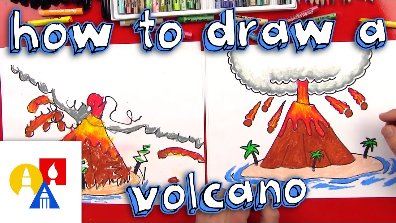 How To Draw A Volcano #1