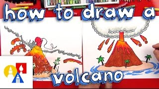 How To Draw A Volcano