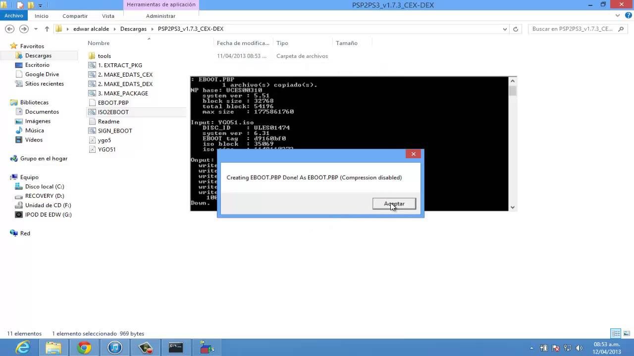 Convertir ISO de PSP a  PKG para PS3