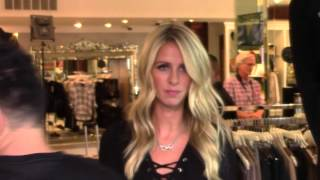 Nicky Hilton Arrives to her Aunt Kyle Richard's Store to Promote her Handbag Line