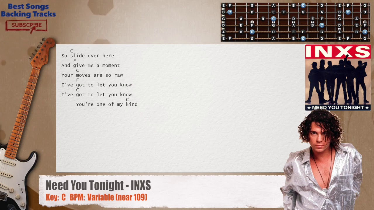 Inxs need you tonight chords