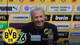 HIGH FIVE! Fünf Tore gegen Hannover   PK mit Lucien Favre   BVB - Hannover 96 5:1