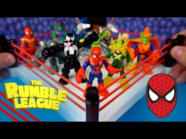 Spiderman Toys Battle Royal ft Playskool Spiderman Toys vs Sinister Six by KidCity