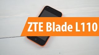 распаковка ZTE Blade L110  / Unboxing ZTE Blade L110