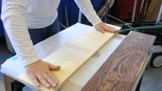 Veneering A Curved Table Apron In A Vacuum Press