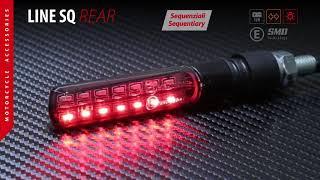 Lampa art. 90477 - Line SQ Rear, indicatori direzione led sequenziale e luce posizione/stop post.