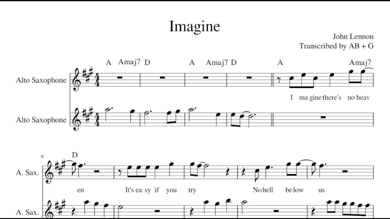 Imagine john lennon alto sax duet sheet music lyrics imagine john lennon alto sax duet sheet music lyrics chords hexwebz Gallery
