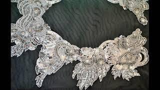 видео Мастер класс вышивки на сетке