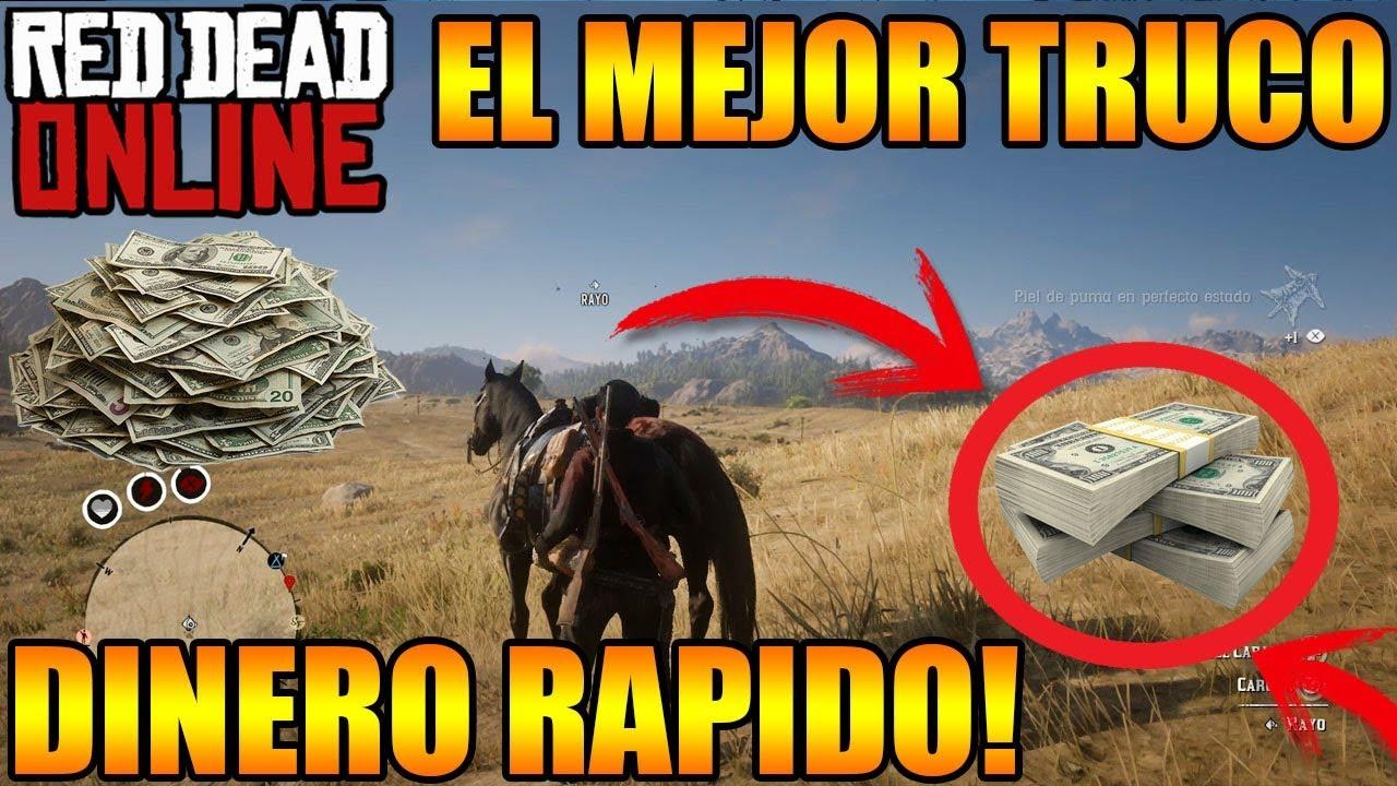 Red Dead Redemption 2  ONLINE DINERO RÁPIDO EL MEJOR TRUCO DE DINERO INFINITO RED DEAD ONLINE