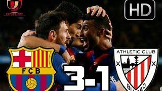 Barcelona vs Athletic Bilbao 3-1|RESUMEN Y GOLES HD|COPA DEL REY| 11-01-2017