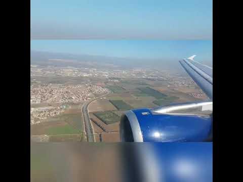 Landing and Taxiing at Algiers Houari Boumediene Airport