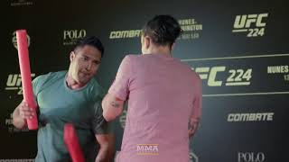 UFC 224: Raquel Pennington Open Workout Highlights - MMA Fighting