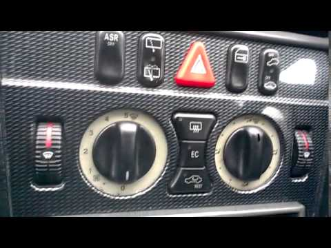 Mercedes Benz W202 C-cl heater blower motor replacement on